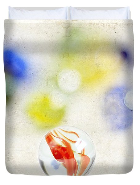 Marbles Duvet Cover by Darren Fisher