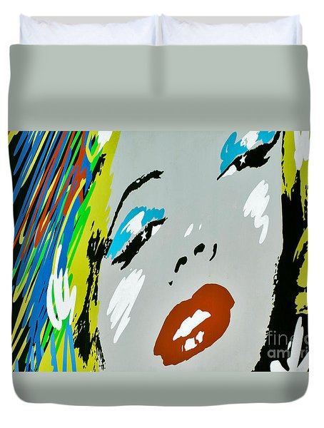 Marilyn Monroe Duvet Cover by Micah May