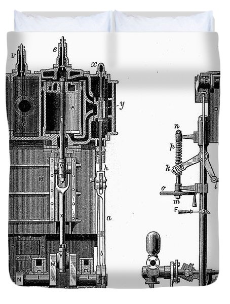 Marine Steam Engine, 1878 Duvet Cover
