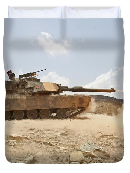 Marines Bombard Through A Live Fire Duvet Cover by Stocktrek Images