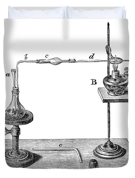 Marsh Test Apparatus, 1867 Duvet Cover by Science Source