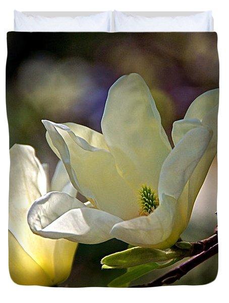 Marvelous Magnolia Duvet Cover by Byron Varvarigos