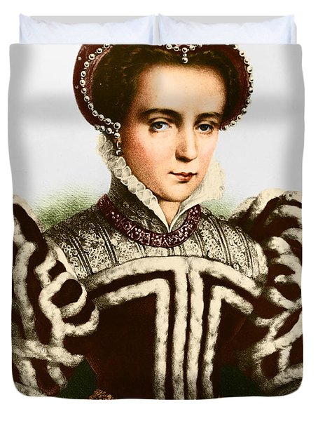 Mary I, Queen Of England And Ireland Duvet Cover by Omikron