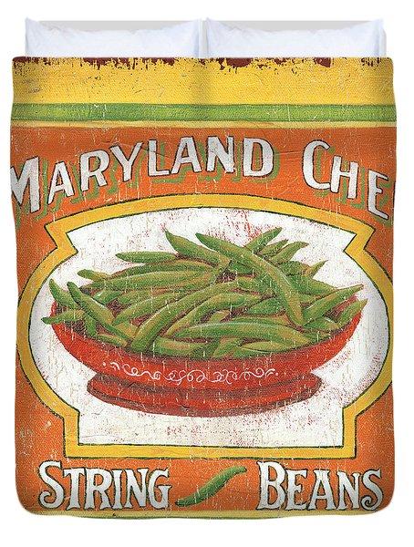 Maryland Chef Beans Duvet Cover by Debbie DeWitt