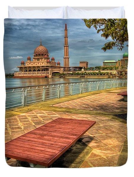 Masjid Putra Duvet Cover by Adrian Evans
