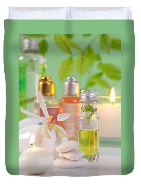 Massage Spa Concepts Duvet Cover by Atiketta Sangasaeng