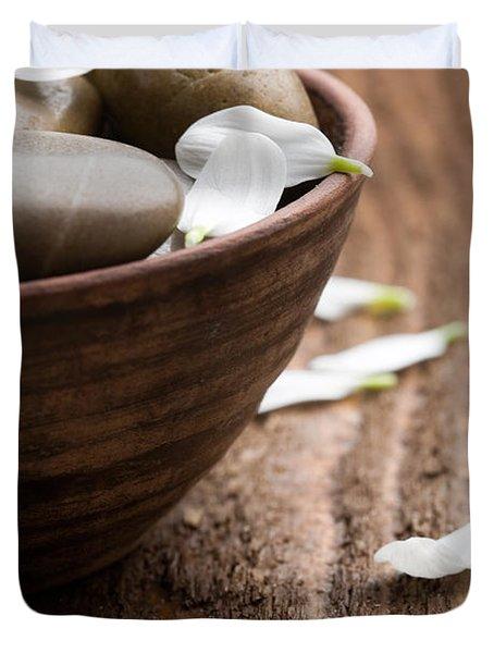 Massage Stones  Duvet Cover by Kati Molin