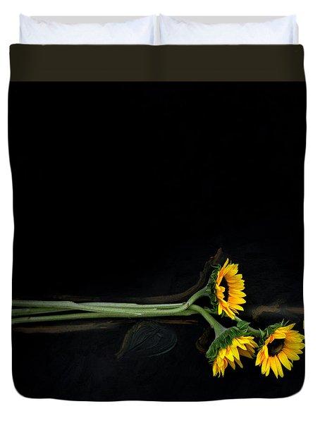 Master Sunflowers Duvet Cover by J R Baldini M Photog