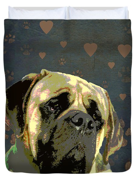 Mastiff Duvet Cover by One Rude Dawg Orcutt