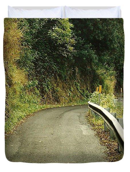 Maui Highway Duvet Cover by Marilyn Wilson