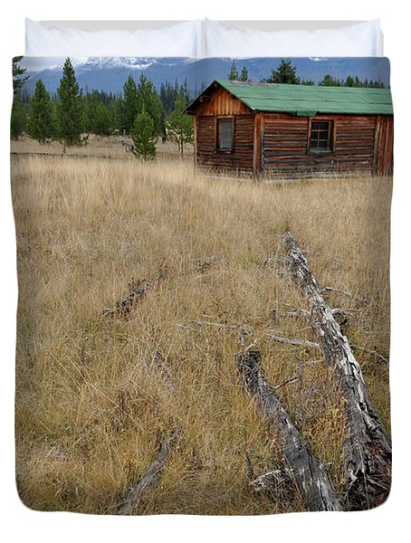 Mccarthy Family Cabin Glacier National Park Duvet Cover