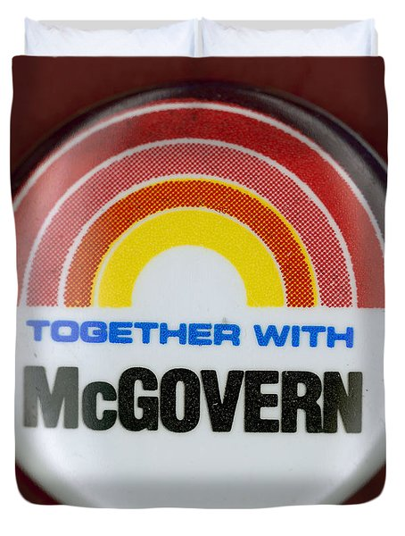 Mcgovern Campaign Button Duvet Cover