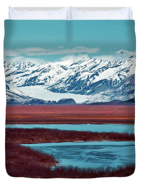 Mclaren Glacier Duvet Cover by Rick Berk