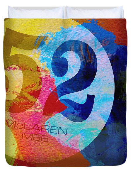 Mclaren Watercolor Duvet Cover by Naxart Studio