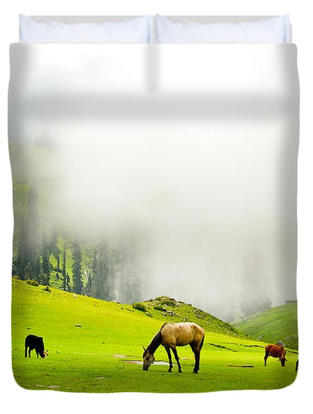Meadows Of Heaven Duvet Cover by Syed Aqueel