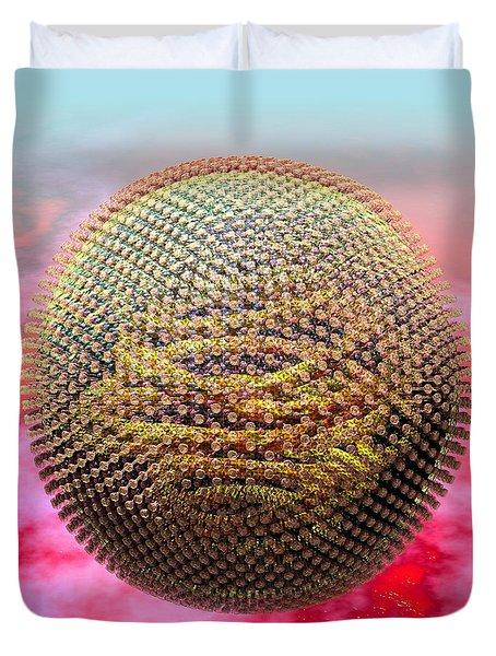 Measles Virus Duvet Cover