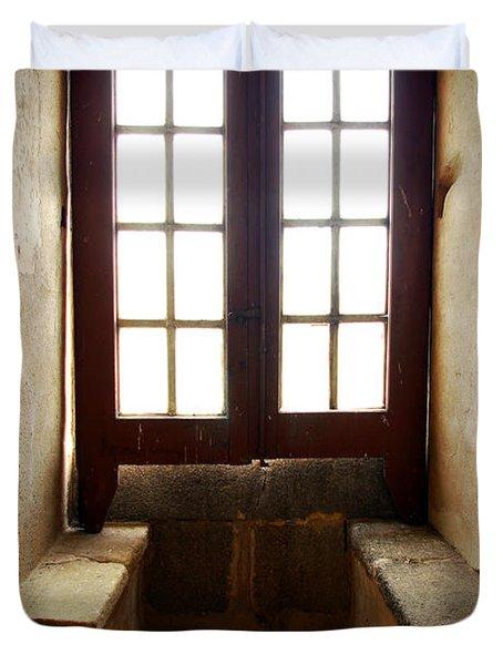 Medieval Window Duvet Cover by Carlos Caetano