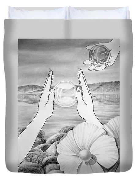Meditation  Duvet Cover by Irina Sztukowski