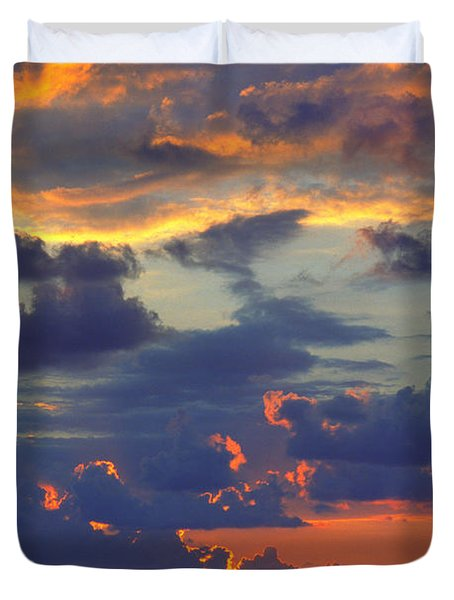 Mediterranean Sky Duvet Cover by Mark Greenberg