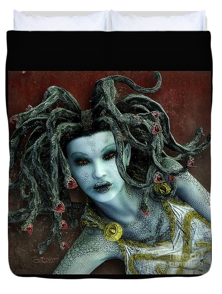 Medusa Duvet Cover by Jutta Maria Pusl