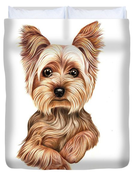 Meet Terry From Yorkshire Duvet Cover by Margaret Sanderson