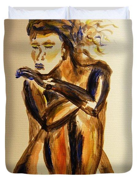 Melancholy Duvet Cover by Angela Murray