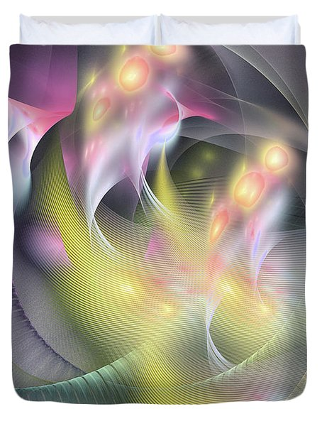 Memoria Futurorum -abstract Art Duvet Cover