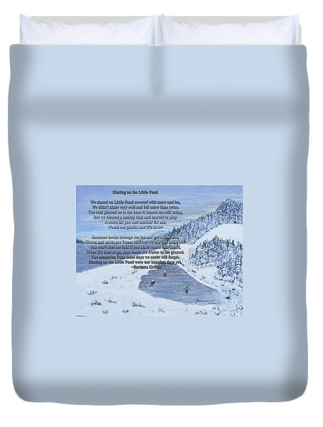 Memories Of A Little Pond Duvet Cover by Barbara Griffin