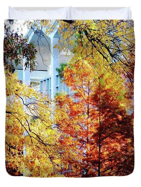Duvet Cover featuring the photograph Memphis College Of Art Overton Park Memphis Tn by Lizi Beard-Ward