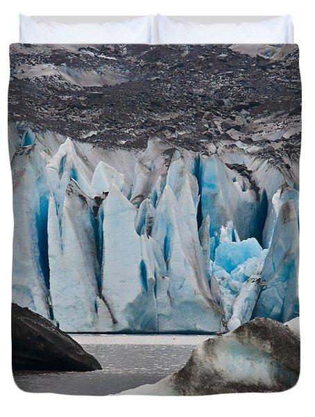 Mendenhall Glacier Juneau Alaska 1698 Duvet Cover
