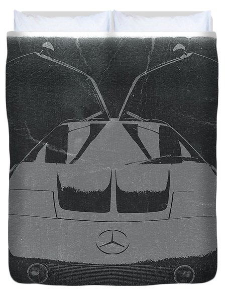 Mercedes Benz C IIi Concept Duvet Cover by Naxart Studio