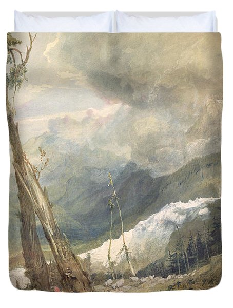 Mere De Glace - In The Valley Of Chamouni Duvet Cover by Joseph Mallord William Turner