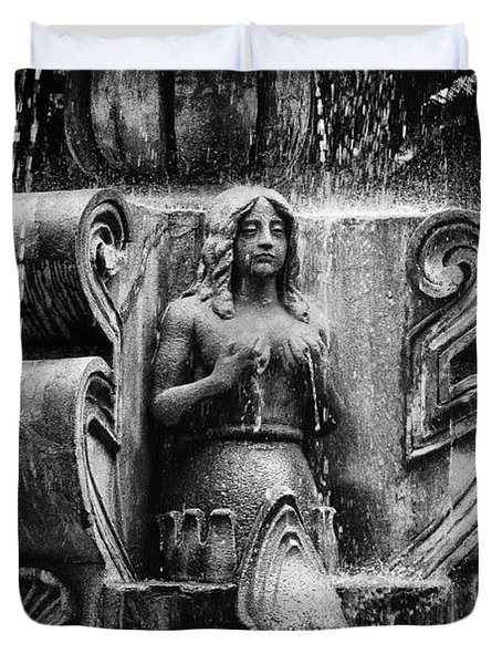 Mermaid Fountain Duvet Cover by Tom Bell