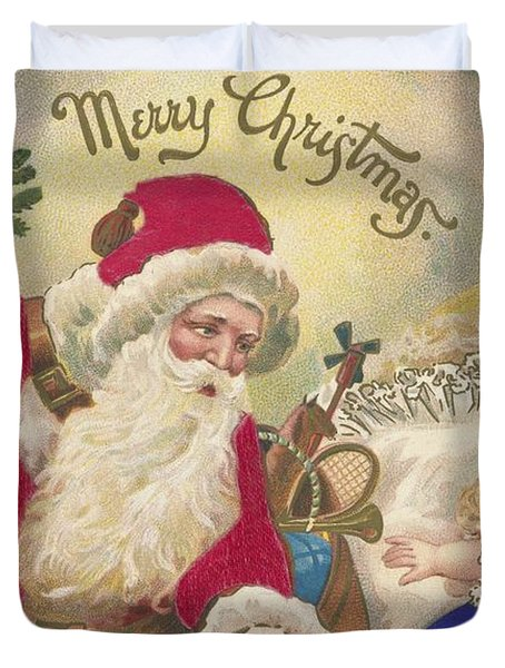 Merry Christmas Duvet Cover by American School