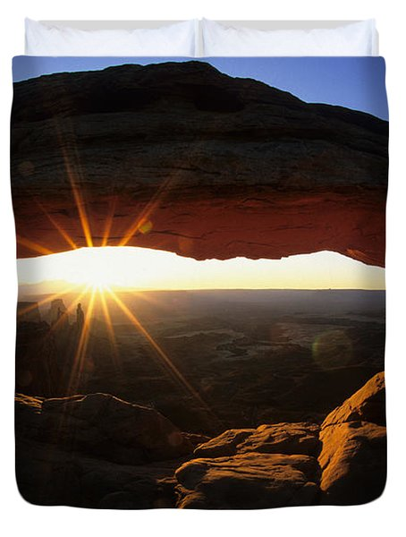 Mesa Arch Sunrise Duvet Cover by Bob Christopher