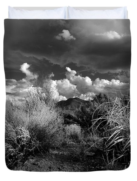Duvet Cover featuring the photograph Mesa Dreams by Ron Cline