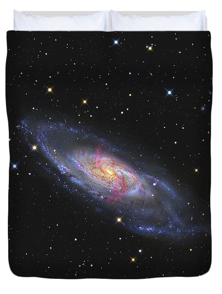 Messier 106, A Spiral Galaxy With An Duvet Cover by R Jay GaBany