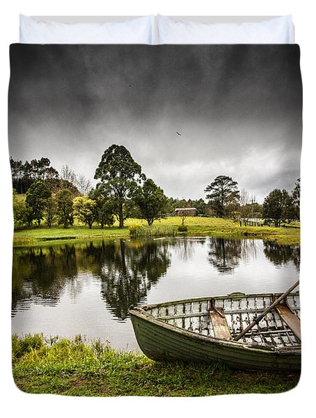 Messing About In A Boat Duvet Cover by Avalon Fine Art Photography