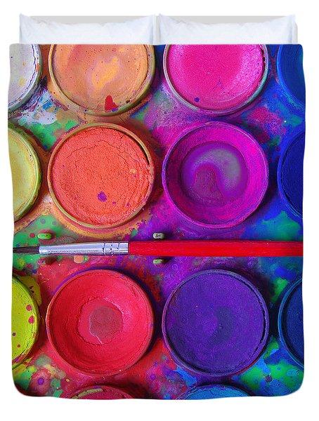 Messy Paints Duvet Cover