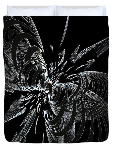 Metalic Butterfly Duvet Cover