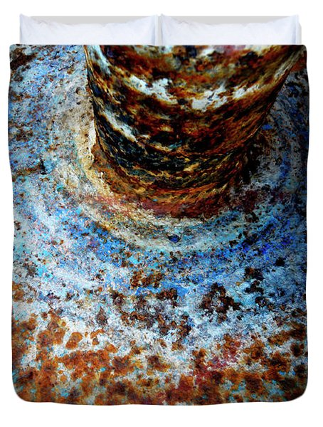 Duvet Cover featuring the photograph Metallic Fluid by Pedro Cardona