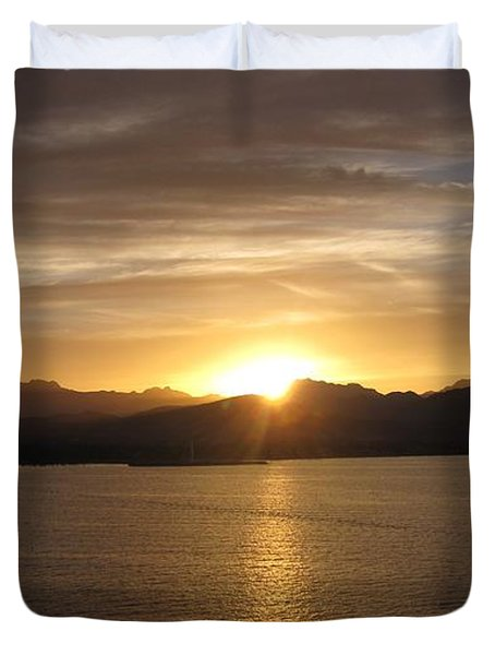 Duvet Cover featuring the photograph Mexican Sunset by Marilyn Wilson