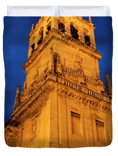 Duvet Cover featuring the photograph Mezquita Tower by Lorraine Devon Wilke