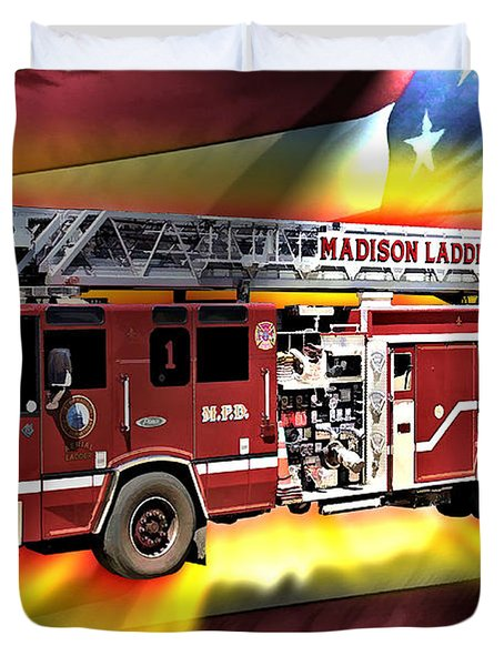 Mfd Ladder Co 1 Duvet Cover by Tommy Anderson