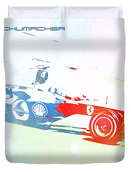 Michael Schumacher Duvet Cover by Naxart Studio