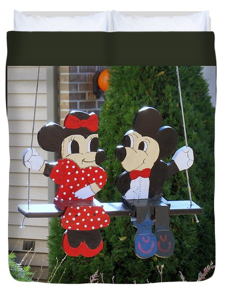 Mickey And Minnie Mouse Duvet Cover