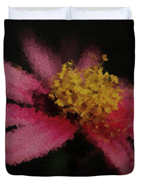 Midnight Bloom Duvet Cover