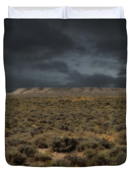 Midnight On The Pairie In Wyoming Duvet Cover