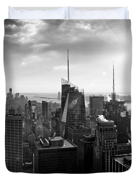 Midtown Skyline Infrared Duvet Cover
