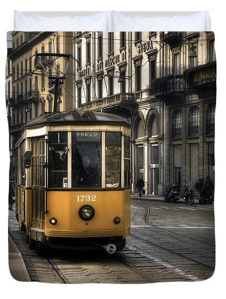 Milan Italy Duvet Cover by Joana Kruse